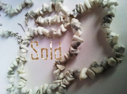 White Howlite Necklace and Earrings Set
