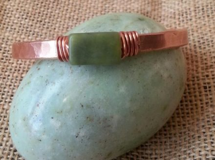 Copper and Serpentine bracelet