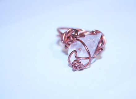 'Amplify' Copper and Quartz Energy Ring