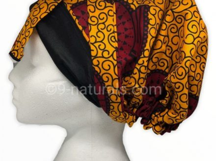 African Print Satin Lined Multi Wear Headwrap
